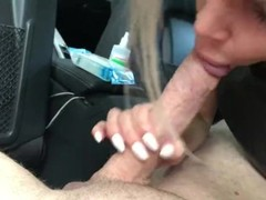 Young and little russian wife makes blowjob in car to big dick Thumb
