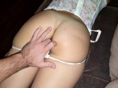 Instead of masazha brunette gets in big ass and then cum on ass hole Thumb
