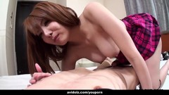 Japanese student, Yuna Hirose is fucking her horny landlord, uncensored Thumb