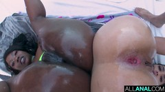 ALL ANAL Skyler Nicole and Vanessa Sky both get ass fucked Thumb