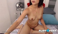 Latina Coed Stripteases and Fingers Her Wet Pussy Thumb