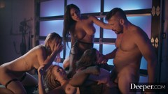 Deeper. Angela White Leads Reverse Gangbang in a Warehouse Thumb