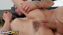 BANGBROS - Young Riley Reid Sneaks Into Her House And Step Cousin Mick Blue Catches Her Thumb