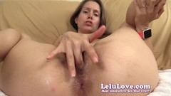 Cum closer into my super wet oily pussy fingering JOI - Lelu Love Thumb