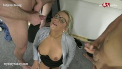 MyDirtyHobby - Threesome with college teacher to relieve exam stress Thumb