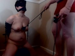 Whore Slutwife Deepthroat Face Fuck while Riding a Sybian Thumb