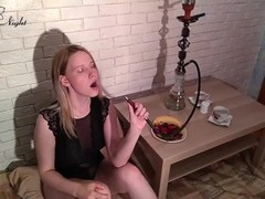 Horny Blonde Sucks Cock Stranger in Hookah POV Thumb