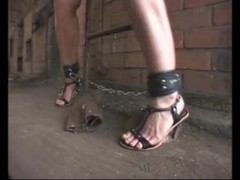 Factory Slave Bondage Master Tit Clamps Outdoor Cuffed Thumb