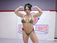 Brandi Mae CBT and strapon fucks loser after mixed nude wrestling win Thumb