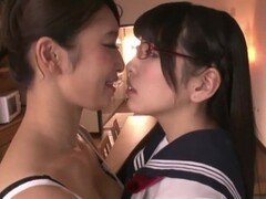 Japanese Step Mother and Step Daughter Have Lesbian Sex Thumb