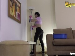 MamacitaZ - Playful Colombian Maid Loves Riding Cock During Work Thumb