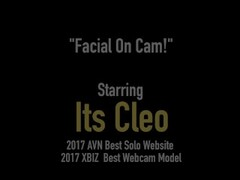 Hot Webcam Wonder Its Cleo Takes A Fat Wad Of Cum! Thumb