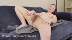 Dawn Honey Crisp has sexy orgasms on her couch Thumb