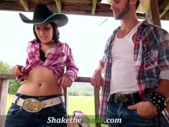 Shake The Snake - Hot Cowgirl Banged Outdoors Thumb