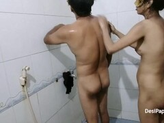 Amazing Indian Couple Fucking In Bathroom While Taking Shower Thumb